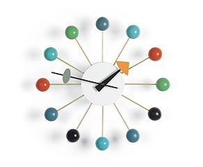 Vitra Mutlicolor Ball Clock by George Nelson